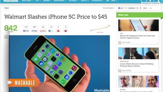 News video: Walmart Rolls Back iPhone 5c Price to $45
